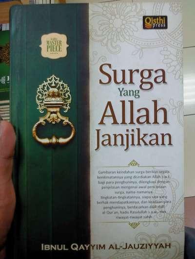 """cover buku """"Surga yang Allah Janjikan"""" karya Ibnul Qayyim Al-Jauziyyah."""