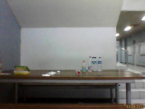 Meja hotspot salah satu Himpunan Mahasiswa