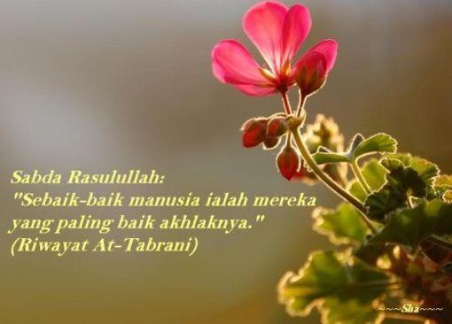 sempurnanya akhlak, sempurnanya iman. mari menjadi insan berakhlak. :)